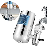 Faucet Water Filter Household Water Purifier Kitchen Faucet Water Tap Filter ,Slickbox Tap Water Purifier Filter Switch with Ceramics Filter Cartridge Water Filter System