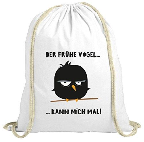 Muffin Mattina Natura Douchebag Con Uccello Pazzo - La Motivazione Mattiniera Dalla Natura Bianca Camicetta