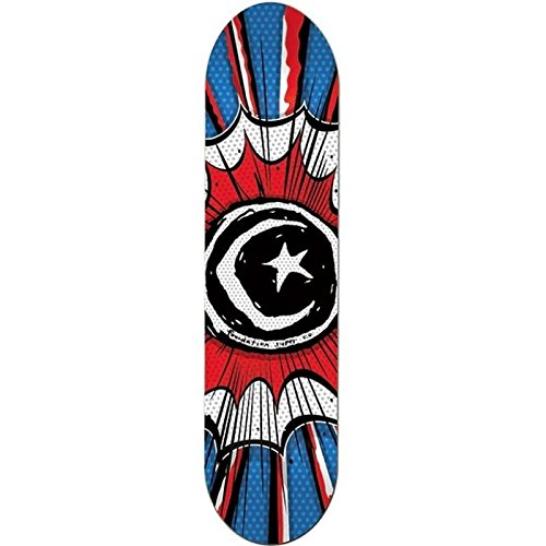 Foundation Herren Skateboard Deck Star & Moon Comic - blue-red-white , Größe:8