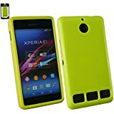 Emartbuy® Sony Xperia E1 / Xperia E1 Dual Glänzend Gel Hülle Schutzhülle Case Cover Grün