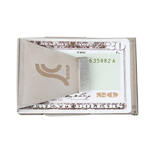 Pince à Billets Double Face Support Clip pour Argent Carte de Crédit en Acier Inoxydable