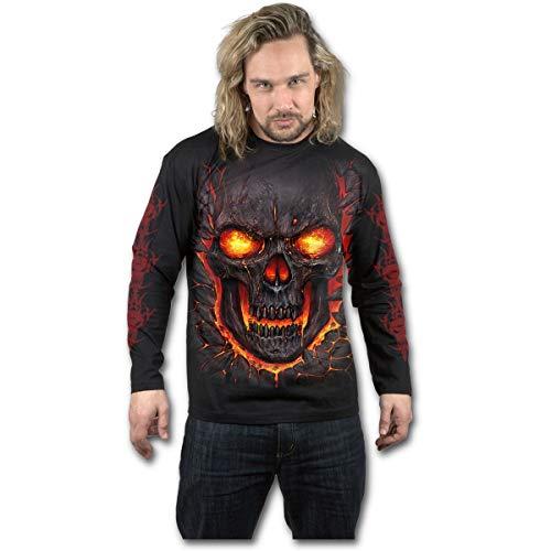 Spiral Direct Damen Zipped-Front Print Black T-Shirt, Schwarz 001, 42 (Herstellergröße:)