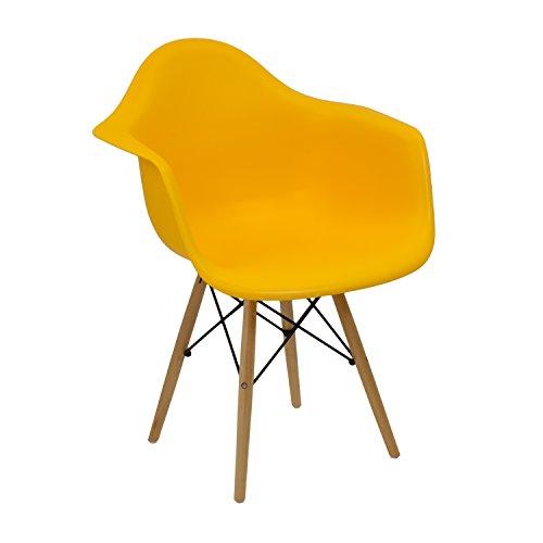 Silla Eames de oficina amarilla