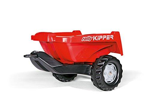 Rolly Toys Anhänger rollyKipper II, TÜV/GS geprüfter Einachsanhänger mit Kippfunktion für Kinderfahrzeuge, geeignet für Kinder zwischen 2,5 und 10 Jahren, rot, 128815