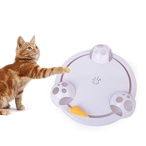 Womdee Pounce Juguete para Gatos, Juguete de Entrenamiento Interactivo automático para Gatos,...
