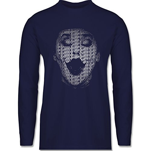 Comic Shirts - Jack Napier - Longsleeve / langärmeliges T-Shirt für Herren Navy Blau