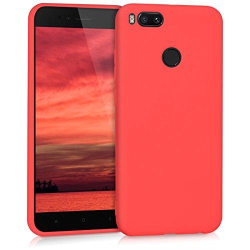 kwmobile Xiaomi Mi 5X / Mi A1 Cover - Custodia per Xiaomi Mi 5X / Mi A1 in silicone TPU - Backcover protezione rosso matt