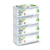 FINE Towel interfolded (2X More Absorbent) Sterilized 150 Sheets 2 Ply - Pack of 4