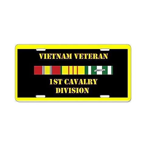 CafePress 1st Cavalry Division Aluminum License Plate - Standard Multi-color