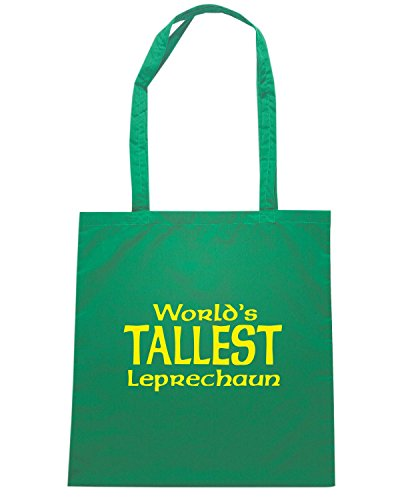 T-Shirtshock - Borsa Shopping TIR0227 worlds tallest leprechaun dark tshirt Verde