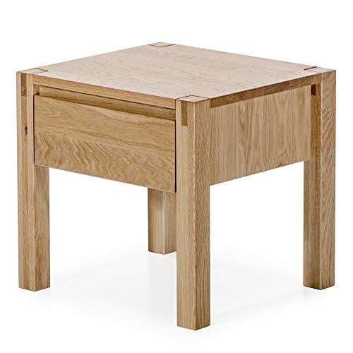 Alkove - Hayes – Moderner Nachttisch Tvill aus Massivholz, natürliche Eiche