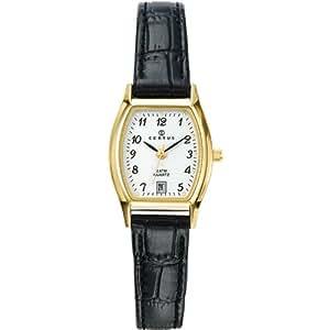 Certus - 646502 - Montre Femme - Quartz Analogique - Cadran Blanc - Bracelet Cuir Noir