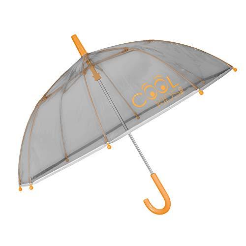Paraguas Transparente Gris Cupula Niño Niña - Paraguas