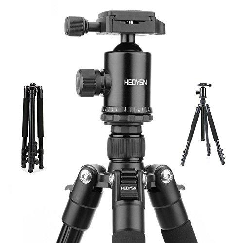 Heoysn Leichtgewichtiges Stativ Tragbare mit 360° Kugelkopf aus hochwertigen Aluminiumlegierungen. Professionelles Fotostativ. Kompatibel mit Canon/Nikon/Olympus/Pentax DSLR-/Bridge- und allen Kameras