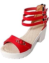 Meriggiare Women PU Red Heels