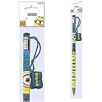 Minions 1Matita Gigante con dimensioni matita + 1set papéterie con astuccio piatta + 1porta (Piatto Gigante)