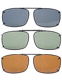 Eyekepper Grau/Braun/G15 Objektiv 3-pack Aufklappbare polarisierte Sonnenbrille 58x38 MM ryXlHla