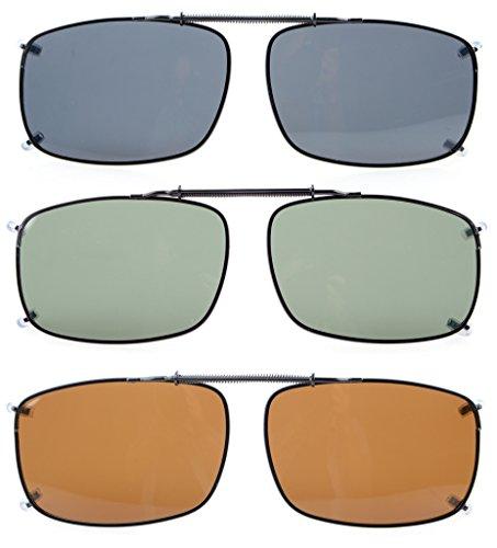 Eyekepper Grau/Braun / G15 Objektiv 3-pack Aufklappbare polarisierte Sonnenbrille 58x38 MM