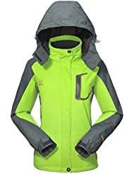 Wasserdichte Regenjacke Damen Softshell Sport Outdoorjacke - GIVBRO 2017 Neues Design Funktions Atmungsaktive Hooded Camping Hiking Jacke