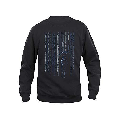 Pampling, Sweatshirt, Digital Detox, Informatik, Binärcode, Siebdruck, Schwarz Medium -