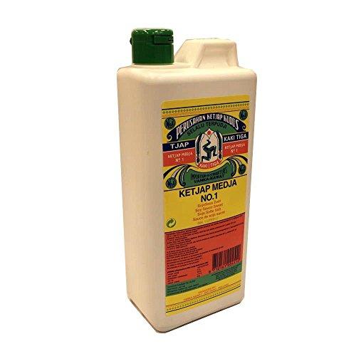 Kaki Tiga Ketjap Medja No.1 1000ml Kanister (Süße Soja Sauce)