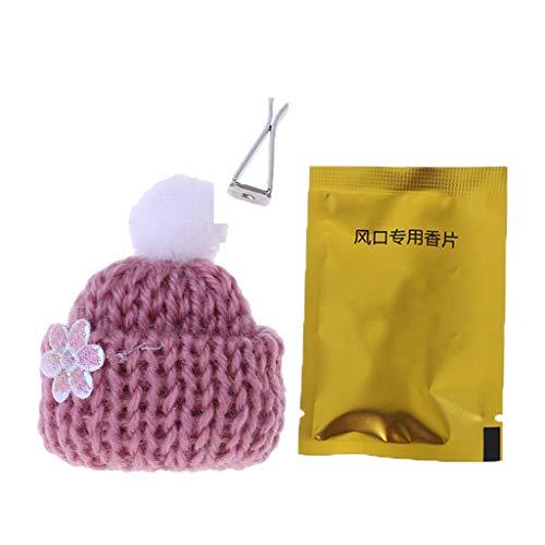Lifet Gorro navideño Auto aire de perfume ambientador aroma Clip Vent auto de perfume Aroma accesorios del automóvil decoración
