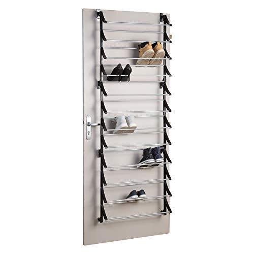 Wedestock Range Chaussures spécial Porte à Suspendre capacité 36 Paires en métal et Plastique Noir