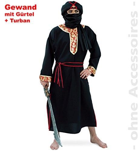 NEU Herren-Kostüm Herr der Wüste mit Turban 3-tlg. Gr. L