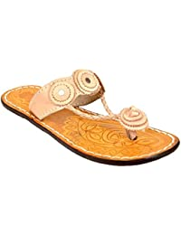 Altek Natural Leather Kohlapuri Slipper For Women (Size : 36 Euro, 6 Ind/Uk) Model: ALTEK_13_218
