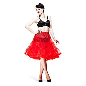 Hell Bunny Petticoat SWING LONG red/red L-XXL
