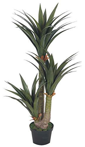 Decovego Yucca Palmlilie Kunstpflanze Plastikpflanze Künstliche Pflanze 150cm