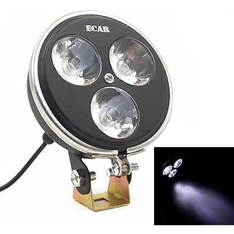3 LED Daytime coche en marcha lámpara reflector luz del punto frontal del vehículo todoterreno de luz adicional (uso de corriente continua 12v-80v)