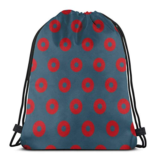 Donuts Special Backpack Sack Bag Gym Bag for Men & Women 17 X 14 Inch