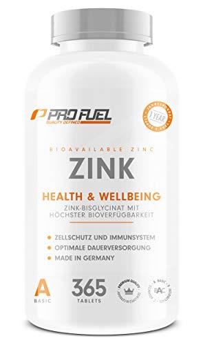 ZINK | Hochwertiges Zinkbisglycinat | Hochdosiert für 12 Monate | 365 vegane Tabletten