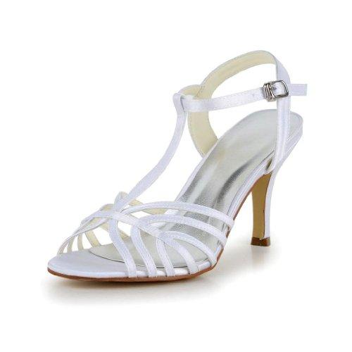 Jia Jia Wedding 1416 chaussures de mariée mariage Escarpins pour femme Blanc