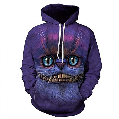 over Gepierter Huthut-Liebhabermantel Der Männlichen Katze Der Geysir-3D Cheshire-Katze Druckte Hut Veilchen L ()