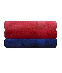 EAGLESHINE Set of 3 Cotton Bath Towel Multi