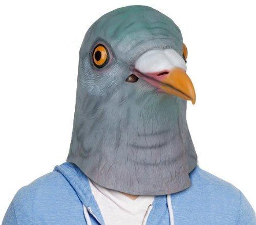 Om (TM) Halloween Realistische Taubenmaske, natürliches Latex, tauben-Maske–Symbol des (Masken Realistische)