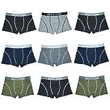 TERRA UOMO Herren Hipster Boxershort Unterwäsche Unterhosen Männer 6-9-12 er Pack (9er Pack, L)