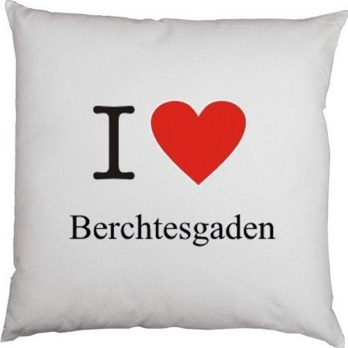 Kissen mit Füllung, Dekokissen, Couchkissen, Deko mit Herz - I love Berchtesgaden