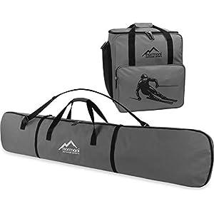 Snowboard Taschen-Kombi bestehend aus Snowboardtasche 166cm und geräumiger Zubehörtasche für Helm, Schuhe und weiteres Ski-Equipment – verfügbar in Mehreren Farben