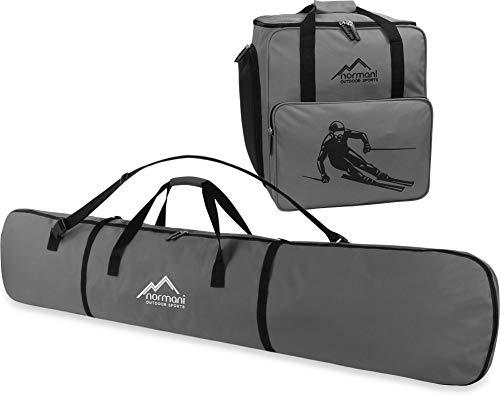 Snowboard Taschen-Kombi bestehend aus Snowboardtasche 166cm und geräumiger Zubehörtasche für Helm, Schuhe und weiteres Ski-Equipment - verfügbar in Mehreren Farben Farbe Anthrazit -