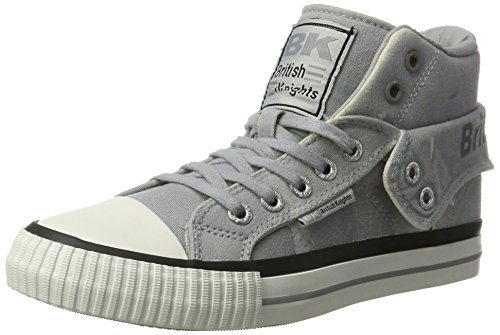 Schuhe High Tops Skater (British Knights Damen ROCO High-Top, Grau (Lt Grey), 37 EU (4 UK))