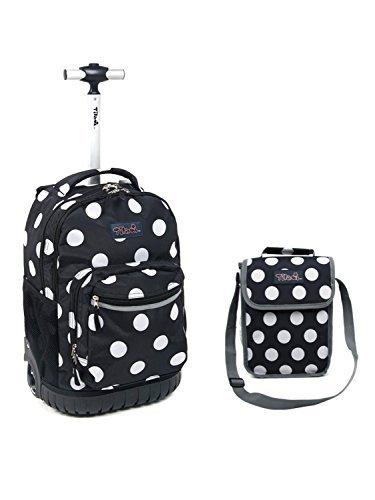 tilami New Antifouling Design 45,7cm Rädern Rolling Rucksack Gepäck und Mittagessen Tasche,...
