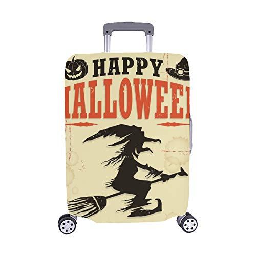 (Nur abdecken) Vintage Halloween Hexe Poster Design Spandex Staubschutz Trolley Protector case Reisegepäck Beschützer Koffer Abdeckung 28,5 X 20,5 Zoll