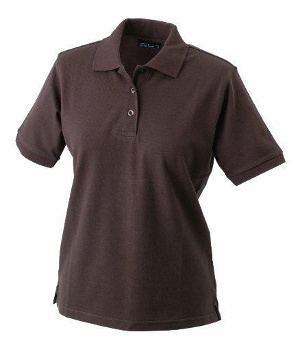 James & Nicholson Damen Poloshirt Ladies' Polo, Gr. Medium, Braun (Braun-piqué-polo-shirt)