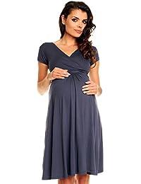 Zeta Ville- maternité - robe jersey de grossesse - manche courte - femme - 108c
