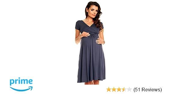 Zeta Ville - Damen - Umstandskleid - Kurzarm - Sommerkleid für Schwangere -  108c  Amazon.de  Bekleidung ae97cd8226