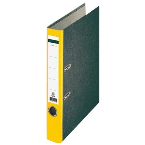 Preisvergleich Produktbild Centra 221120 Standard-Ordner (grauappe RC, mit Wolkenmarmor-Papier-Kaschierung, A4, 5,2 cm Rückenbreite) gelb
