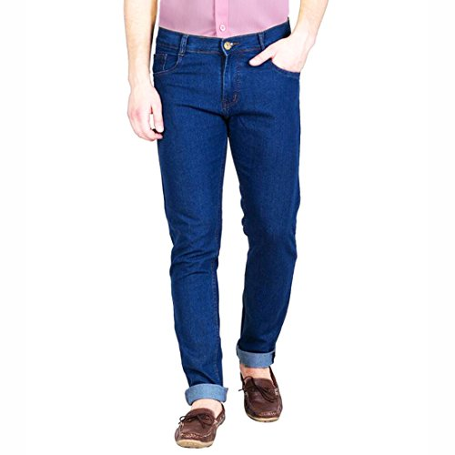 FunTree Men's Regular Non Stretchable Light Blue Jeans  available at amazon for Rs.399